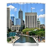 Indianapolis Canal Shower Curtain