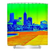 Indianapolis Heat Tone Shower Curtain