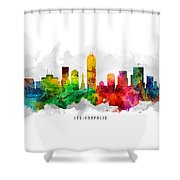 Indianapolis Indiana Cityscape 12 Shower Curtain