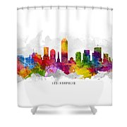 Indianapolis Indiana Cityscape 13 Shower Curtain