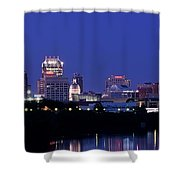Indianapolis Panorama Shower Curtain