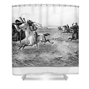 Indians/u.s. Military, 1876 Shower Curtain