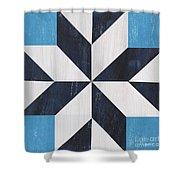 Indigo And Blue Quilt Shower Curtain