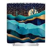 Indigo Desert Night Shower Curtain