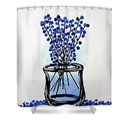 Indigo Falls Shower Curtain