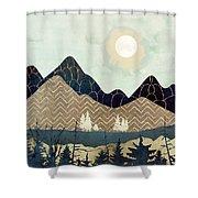 Indigo Forest Shower Curtain