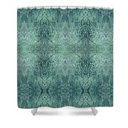 Indigo Lotus Lace Pattern 1 Shower Curtain