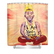 Indigo Melanin Shower Curtain