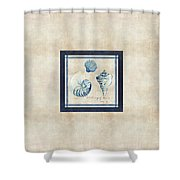 Indigo Ocean - Song Of The Sea Shower Curtain