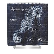 Indigo Verde Mar 1 Shower Curtain