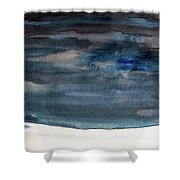 Indigo Winter Night Shower Curtain