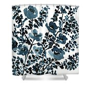 Indigo's Shadow Shower Curtain