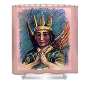 Indian Angel Shower Curtain