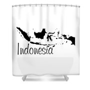 Indonesia In Black Shower Curtain