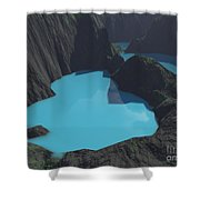 Indonesian Crater Lakes Shower Curtain