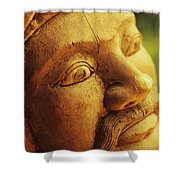 Indonesian Wood Carving Shower Curtain
