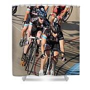 Indoor Bike Race Shower Curtain