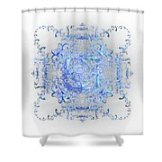 Indulgent Blue Lace Shower Curtain