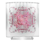 Indulgent Pink Lace Shower Curtain