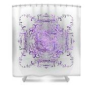 Indulgent Purple Lace Shower Curtain
