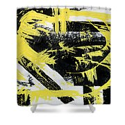 Industrial Abstract Painting I Shower Curtain