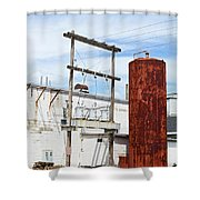 Industrial Building One Shower Curtain