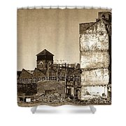 Industrial Decay Sepia 1 Shower Curtain