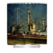 Industrial Farming In Texas Shower Curtain
