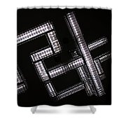 Industrial Geometric Design Shower Curtain
