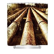 Industrial Hydro Architecture Shower Curtain