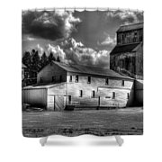 Industrial Landscape In Black And White 1 Shower Curtain