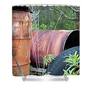 Industrial Leftovers Shower Curtain