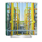 Industrial Piping Shower Curtain
