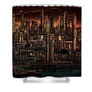 Industrial Psychosis Shower Curtain