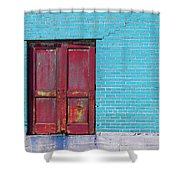 Industrial Red  Shower Curtain