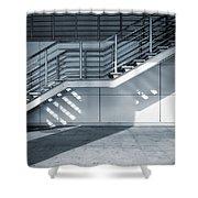 Industrial Stairway Shower Curtain