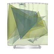 Industry Polygon Pattern Shower Curtain