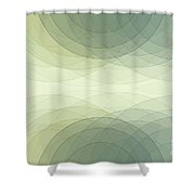 Industry Semi Circle Background Horizontal Shower Curtain