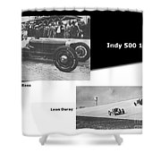 Indy 500 1928 Sam Ross And Leon Duray Shower Curtain