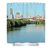 Indy White River View Shower Curtain