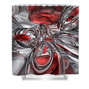 Infection Abstract Shower Curtain