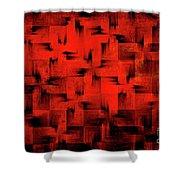 Inferno Shower Curtain by Silvia Ganora
