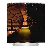 Infinite Bridge At Night Shower Curtain