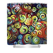 Infinite Cosmic - Abstract Shower Curtain
