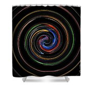 Infinite, Ever Expanding Image. Colorful And Classic Spiral Digital Art That Can Enhance Your Mood. Shower Curtain