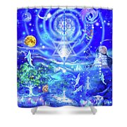 Infinite Life Force Shower Curtain