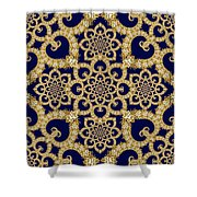Infinite Lily In Navy Shower Curtain