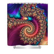Infinite Rainbow Shower Curtain