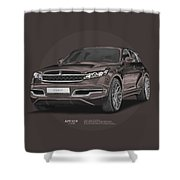 Infiniti Fx45 Artrace Body-kit Shower Curtain