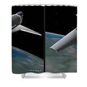 Infinity And Beyond - Gently Cross Your Eyes And Focus On The Middle Image Shower Curtain